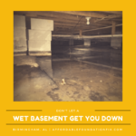 don't let a wet basement get you down