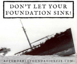 don't let your foundation sink