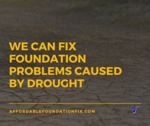 foundation repair drought problems graphic