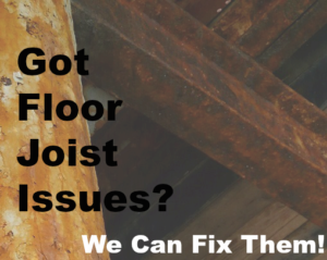 got floor joist issues