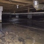 flooded basement due to water seepage in Alabama