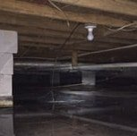 water in flooded, damp crawlspace