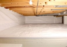 Photo of an attractive crawlspace repair which looks clean and new.