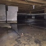 wet basement from basement flooding water problems