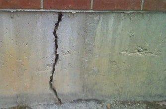 Foundation Block Cracked