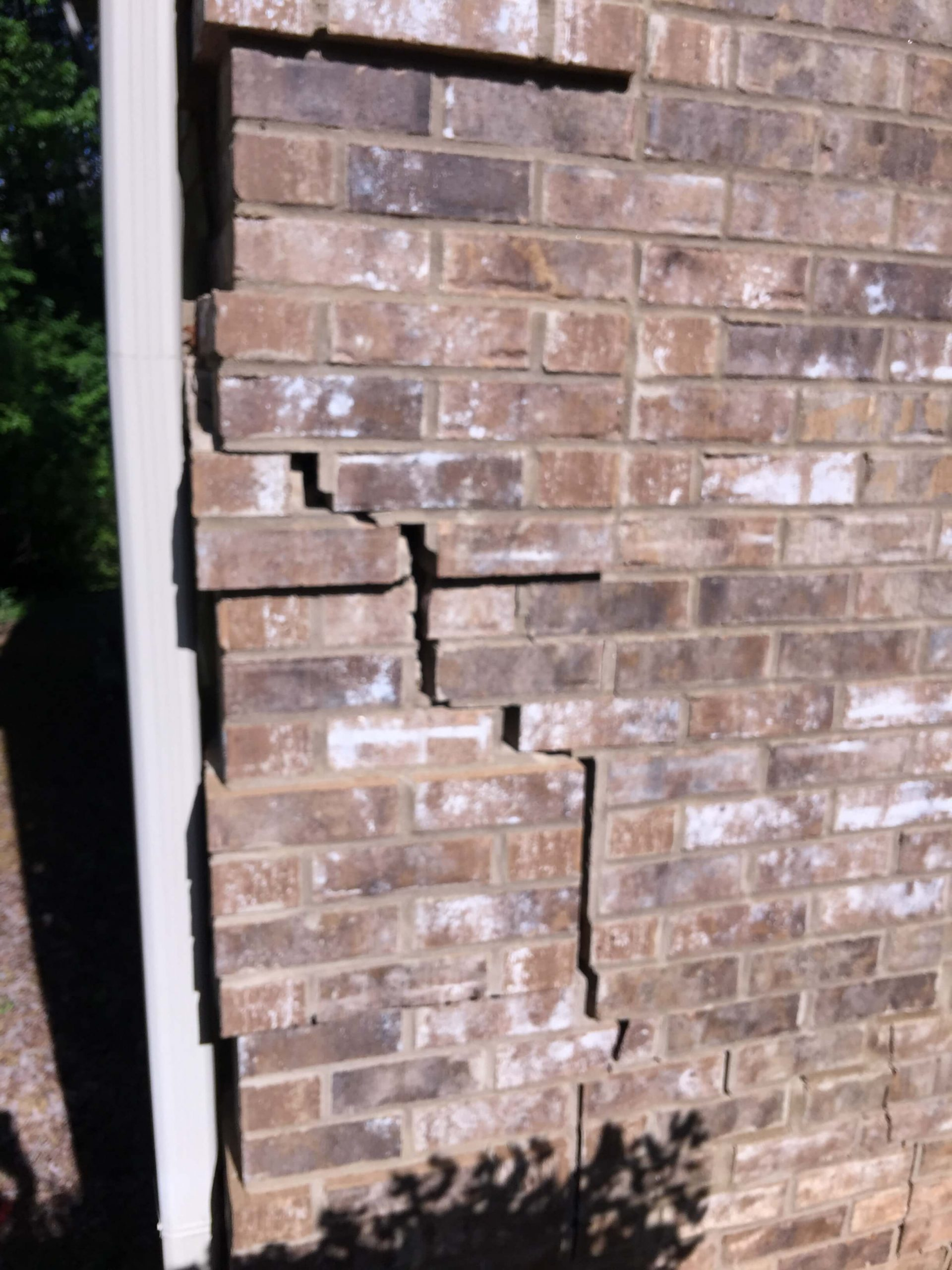 Stair Step Brick Crack