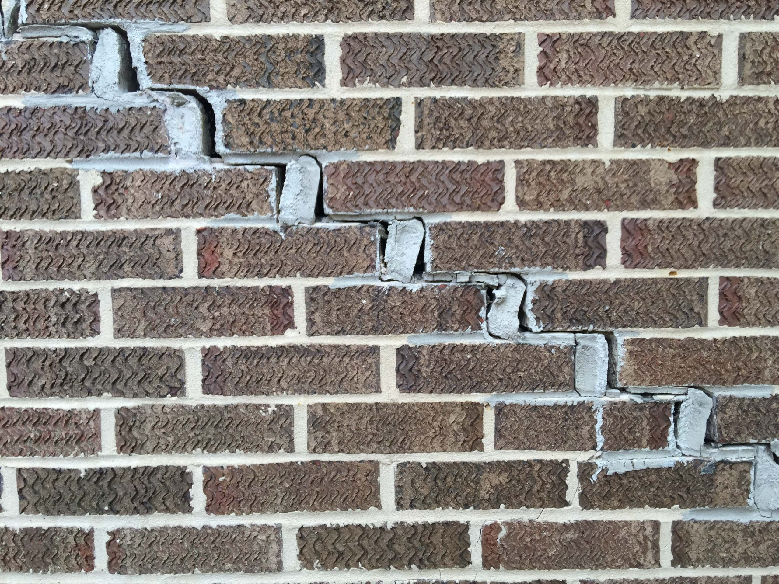 Stair Step Brick Cracks