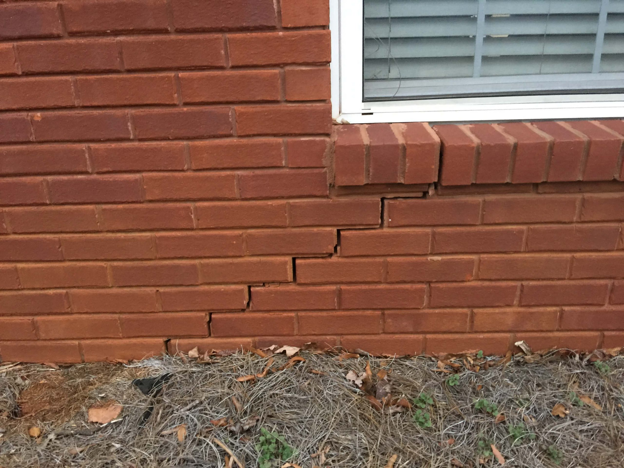 Stair Step Crack in Brick