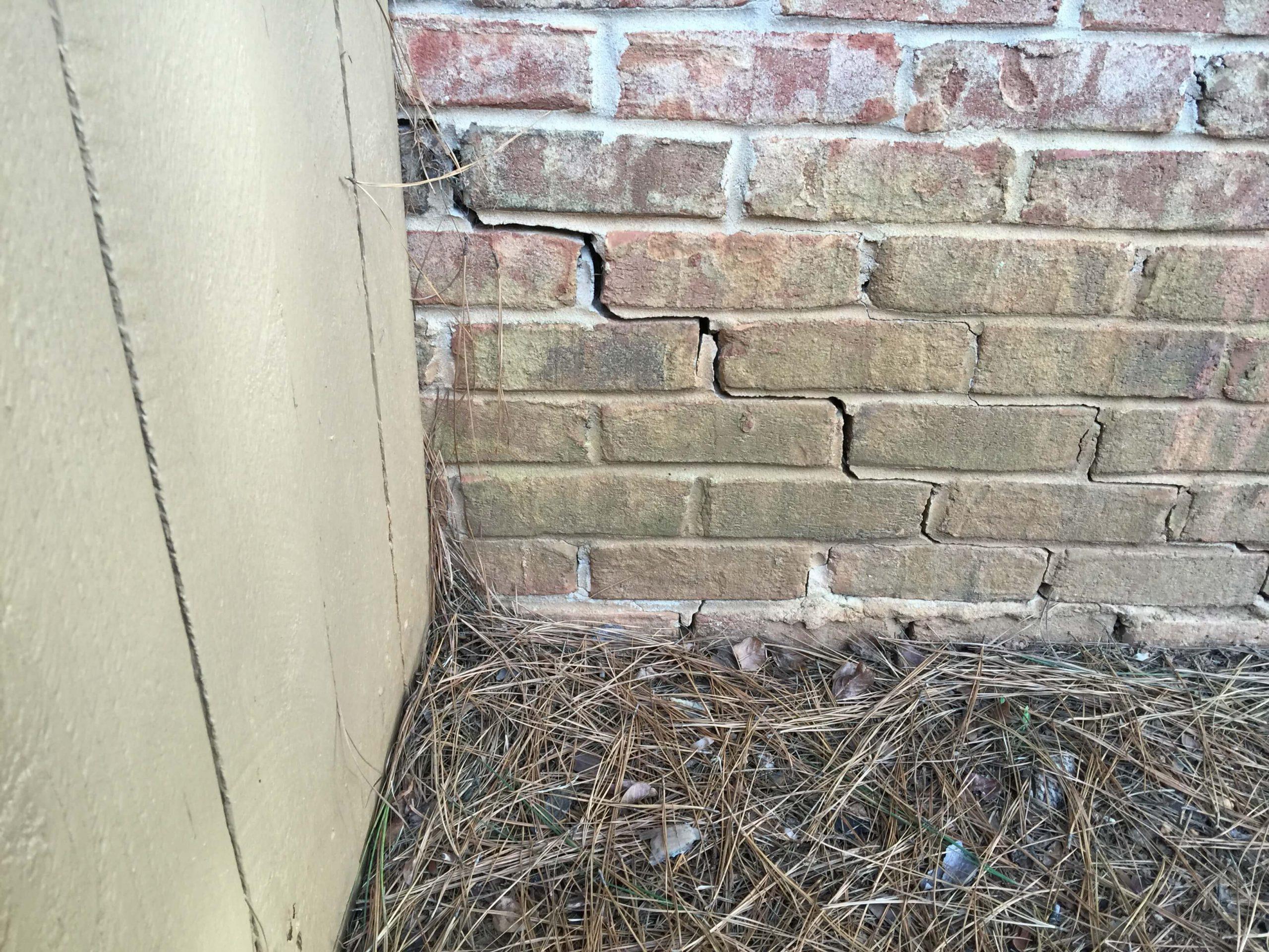 Stair Step Crack in Brick