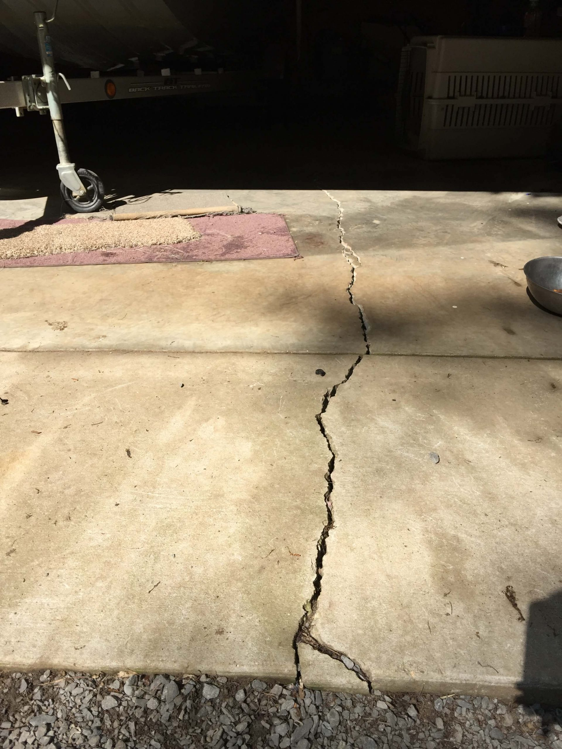Cracks in Concrete Slab