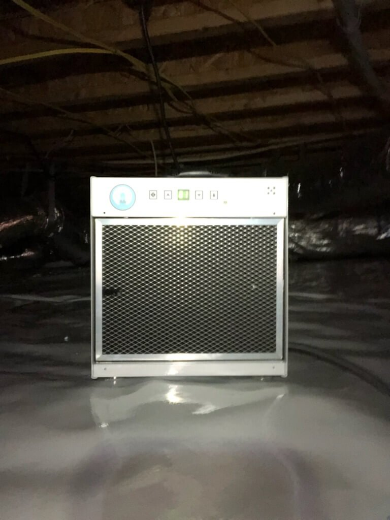 Dehumidifier in Crawlspace