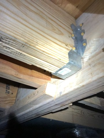 Repaired Crawlspace Joist