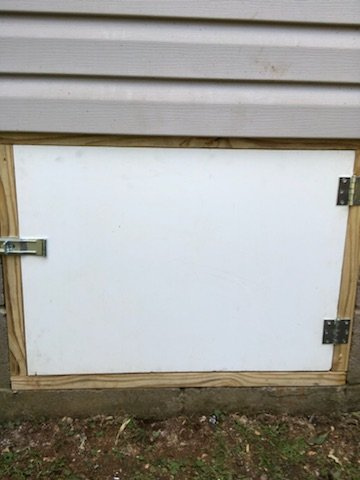 Crawlspace Door