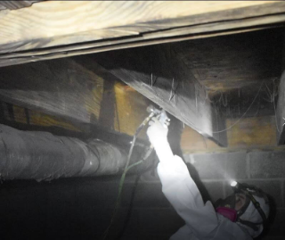 Crawlspace Vapor Barrier Installation