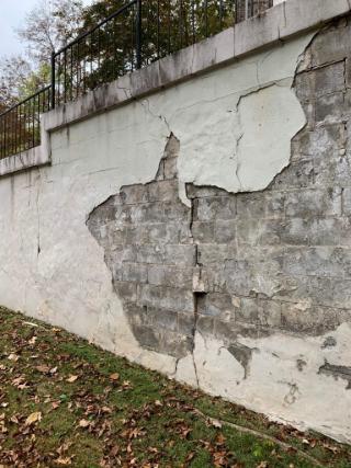Cracks in Block Wall